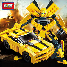 GUDI Transform Series Optimus Prime Truck Model Bumblebee Building Blocks Toys