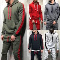 Men Hoodie Tracksuit Top Slim Hooded Sweater Fitness Sport Gym Casual Sweatshirt