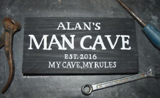 Personalised Wooden Exterior Man Cave Sign Plaque Handmade Dad Grandad Shed