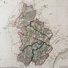 DEPARTEMENT DU JURA, ATLAS NATIONAL DE FRANCE 1790 Revolution Paris chez Dumez
