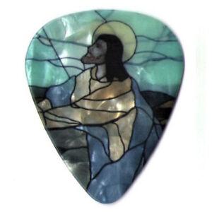 12 Pack Guitar Picks Forgive FAITH JESUS Praying Cross Religious Pearl Pick