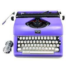 Royal 79119q Classic Manual Typewriter Purple Lightly Used