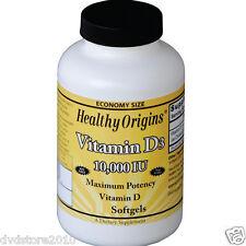 VITAMINA Healthy Origins Vitamin D-3 10,000 iu 120 Softgels 0603573153533