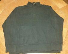 Eddie Bauer Hunter Green Sweater High Neck Zipper Pullover Sweater 2XLT XXL Tall