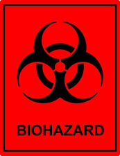 BioHazard Decal Sticker Bio Hazard Waste Material   Made to Last High Quality