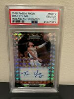 2018 TRAE YOUNG Prizm Mosaic Auto #MOTY Silver Refractor PSA 10 Hawks Rookie RC