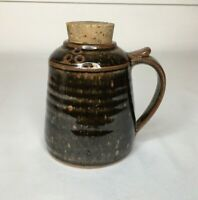 Vintage Pottery Diffuser With Cork Lid Brown