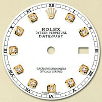 REFINED MENS 2-TONE DATEJUST WHITE DIAMOND DIAL RT FOR ROLEX-36