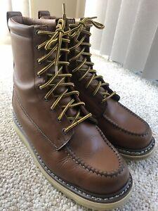 DieHard SureTrack Boots Soft Toe 9 Inch Wedge Work Boots Brown 10.5 EE #86994