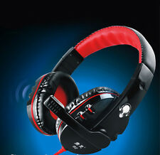 NEW Pro Gaming Stereo Headphones Headset Earphone Mic For PC Computer