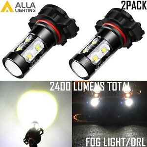 Alla Lighting 2504 LED Driving Fog Light/Daytime Running Light DRL Lamp White,2x