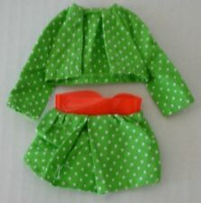 Skipper Young Ideas Green Polkadot Skirt Jacket Sears Exclusive Vintage Barbie