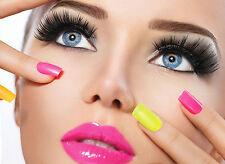 POSTER salone di bellezza trucco degli occhi/Chiodi A3 260GSM