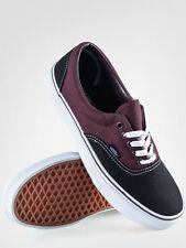 Vans Era 2 Tone Black/Winetasting Men's Classic Skate Shoes Size 9