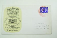 0738: SG483 2½d Stamp Centenary. Red Cross st John Fund FDC. Red Cancel.
