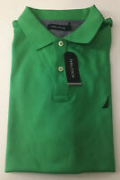 NAUTICA Mens Polo Golf Short Sleeve Shirt Size L Green Color Collared Rugby
