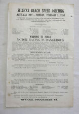 1954 Sellick's Beach Speed Programme Racing Touring Sports Motorcycle Program