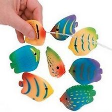 Pack of 6 - Rubber Mini Tropical Fish Squirts - Party Bag Fillers