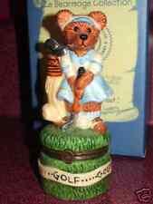 Boyds Bear Figurine Le Bearmoge Porcelain Hinged Box Babe Zebearus Fore golf