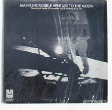 MAN'S INCREDIBLE VENTURE TO THE MOON LP ALBUM MINT! STORY OF APOLLO 11