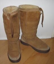 UGG UGGS Womens Brown Suede High Boots 8