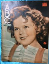 RARE 1936 SHIRLEY TEMPLE cover ABC Geillustreerd Weekblad Dutch Magazine