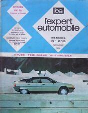Revue technique CITROEN BX 19 ESSENCE et DIESEL RTA EXPERT 215 1984