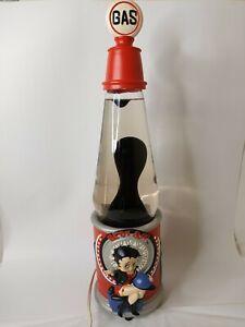 Vintage Rare Betty Boop Gas Station Lava Lamp Lite Light # 11150 Red Black Blue