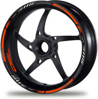 Laminated Set Orange 790 Duke Motorcycle Wheel Decals Rim Stickers Stripes /298