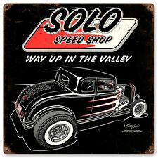 Solo Speed Shop 32er FORD HOT Rat Rod Muscle Car Retrò SIGN IN LAMIERA SCUDO SCUDO