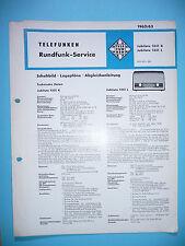 Service Manual-Anleitung für Telefunken Jubilate 1351 ,ORIGINAL