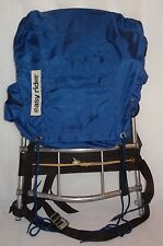 VNT External Frame Backpack Hiking Travel Pack Easy Rider  Camping Blue