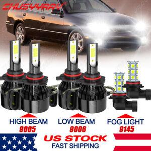 For 1998-2005 LEXUS GS 300 400 430 LED Headlight High Low Beam Fog Light Bulbs