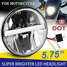 """Motorrad Scheinwerfer 5.75"""" 5-3/4'' LED DRL E-Geprüft Ersetzen Sie Halogen Xenon"""