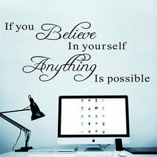 If you believe in yourself Quote Removable Vinyl Decal Art Mural Wall Sticker EM