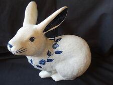 Dedham Pottery ~ Potting Shed ~ Blue & White ~ Extra Large Sitting Rabbit
