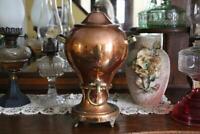 Antique Copper Samovar, Vintage Copper & Brass Hot Water Dispenser with Burner