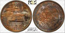 "1974-MO MEXICO 20 CENTAVOS ""CENTS"" PCGS MS64RB COLOR TONED ONLY 6 GRADED HIGHER"