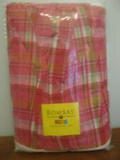 "Bombay Kids Pink Plaid Cotton Twin Bedskirt 14"" Drop New with Tag"