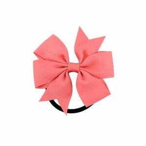Girl Headwear Ribbon Bow Rope Elastic Hair Band Hair Accessories Ponytail Holder