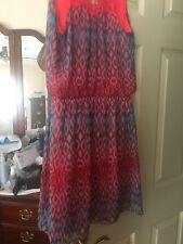 Express Pink/turquoise Dress Size Small