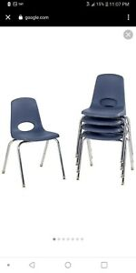 "Swivel Glide 10 Pack 18"" chairs navy blue"