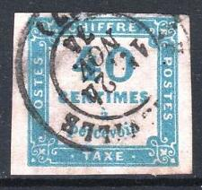 "FRANCE STAMP TIMBRE TAXE 7 "" CHIFFRE TAXE 40c BLEU "" OBLITERE TB   M655"