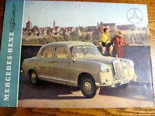 1954 1955 Mercedes-Benz Type 180D Color Brochure, Original