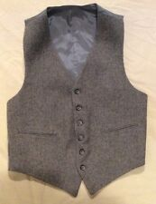 Vintage Thick Wool Salt & Pepper Buckle Back Vest Men's XS-S