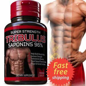 TRIBULUS TERRESTRIS 7500mg EXTRACT 96% SAPONINS BIG MUSCLE BODYBUILDING PILLS