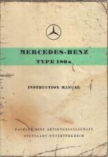 MERCEDES Benz W120 180 A PONTON (1957-59) ORIGINALI Proprietari Manuale di istruzioni