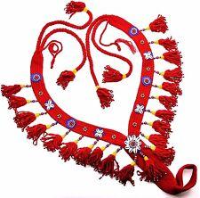 Native Egyptian / Arabian horse show Breast Coller, Show Halter & Noseband RED