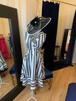 Designer Occasion Wear Ladies Bardot Ruffle Dress Midi Dresses Uk Made RRP£65