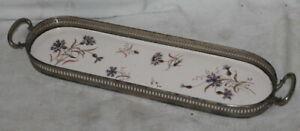 antike Keramik Schale / Tablett - Kornblumen / Blumen - Jugendstil
